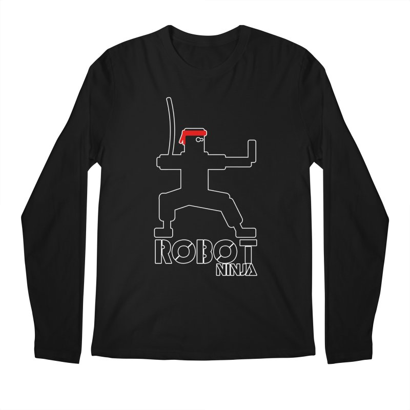 Robot Ninja! Men's Regular Longsleeve T-Shirt by The Modern Goldfish Shop