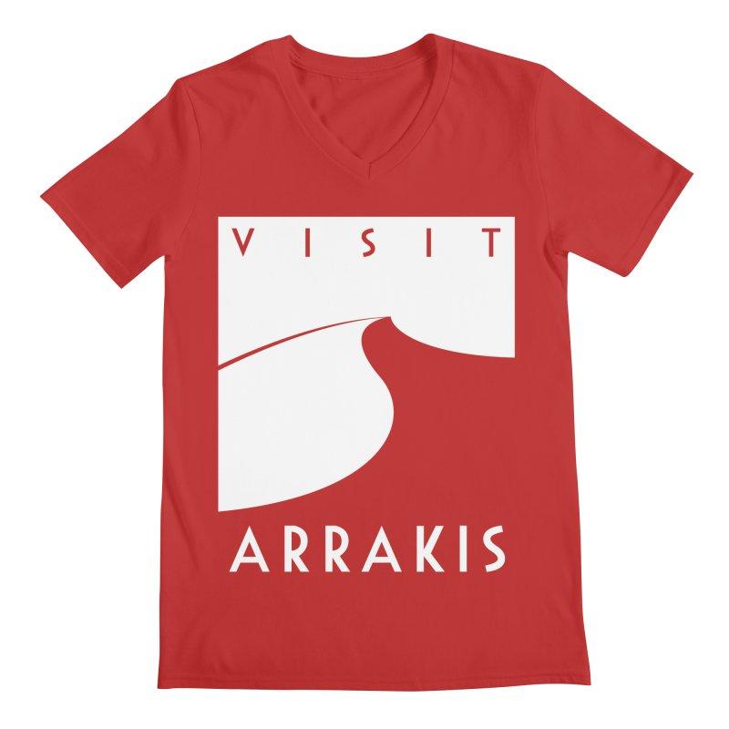 Visit Arrakis Men's V-Neck by The Modern Goldfish Shop