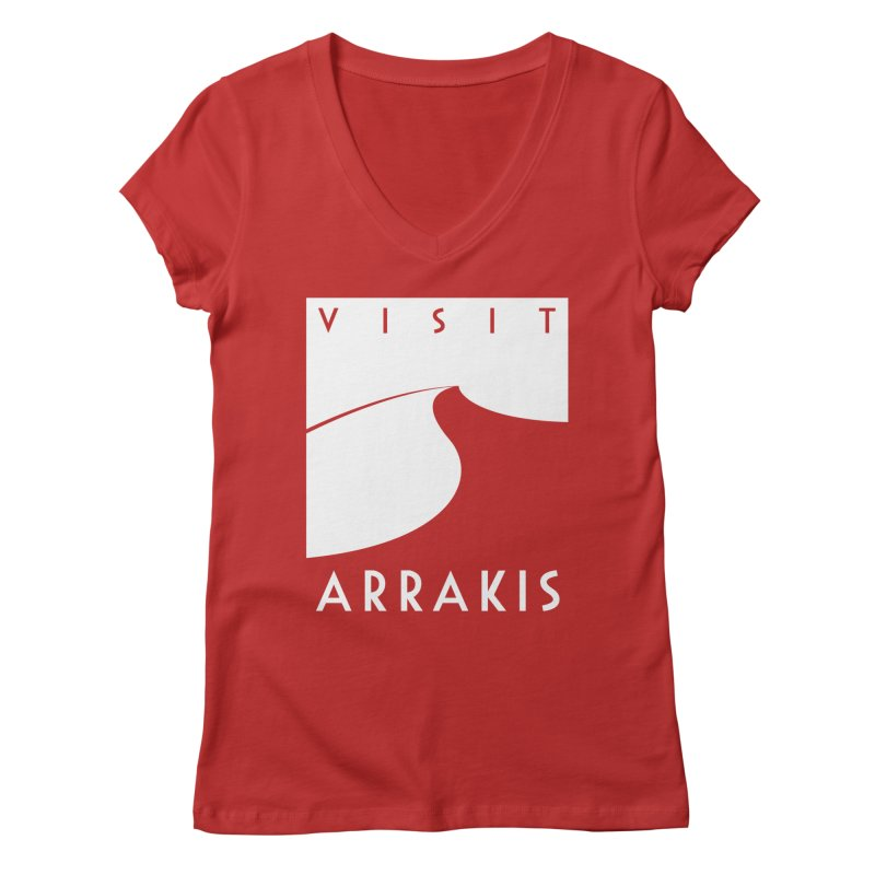 Visit Arrakis Women's V-Neck by The Modern Goldfish Shop