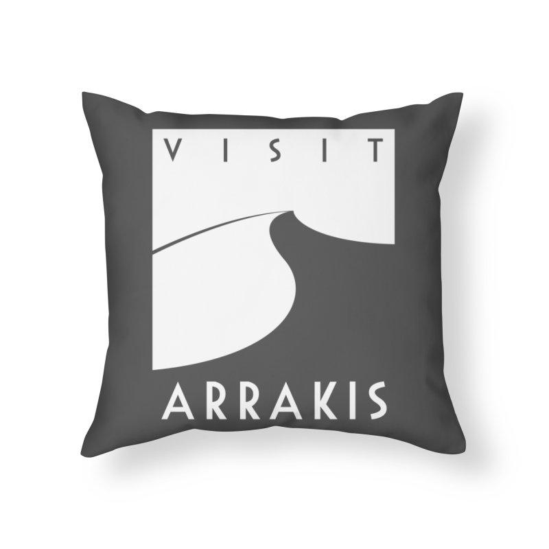 Visit Arrakis Home Throw Pillow by The Modern Goldfish Shop