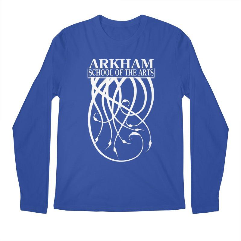 Arkham School of the Arts (white) Men's Regular Longsleeve T-Shirt by The Modern Goldfish Shop