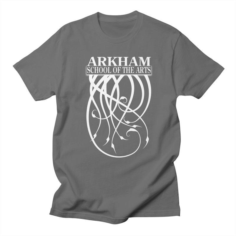 Arkham School of the Arts (white) Women's T-Shirt by The Modern Goldfish Shop