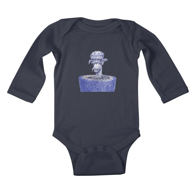 Marx Myth - Ogre Tree Kids Baby Longsleeve Bodysuit by The Modern Goldfish Shop