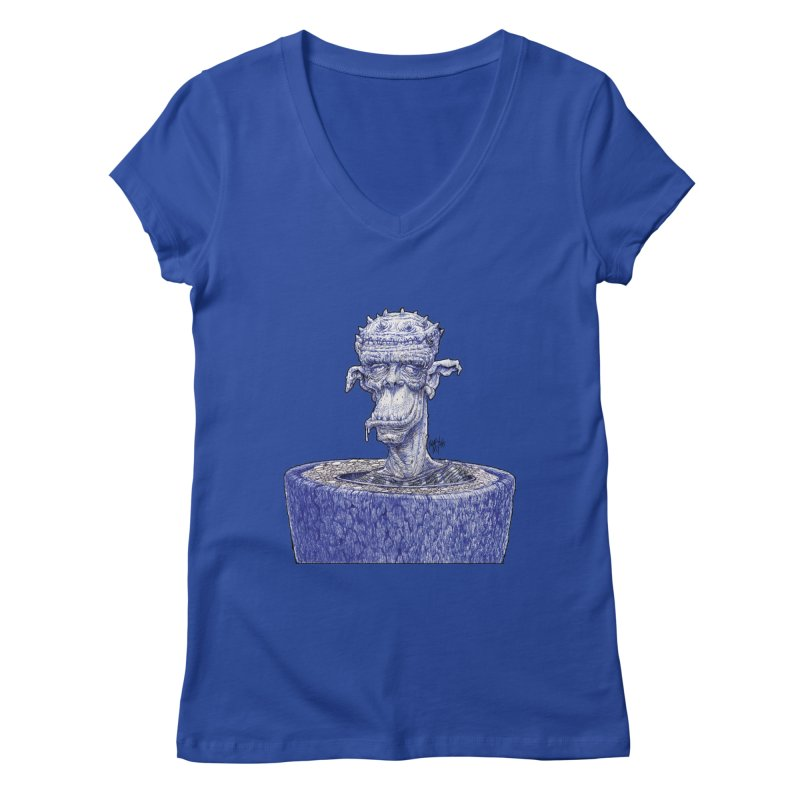 Marx Myth - Ogre Tree Women's Regular V-Neck by The Modern Goldfish Shop
