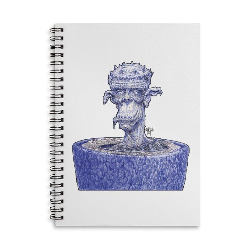 Marx Myth - Ogre Tree Accessories Lined Spiral Notebook by The Modern Goldfish Shop
