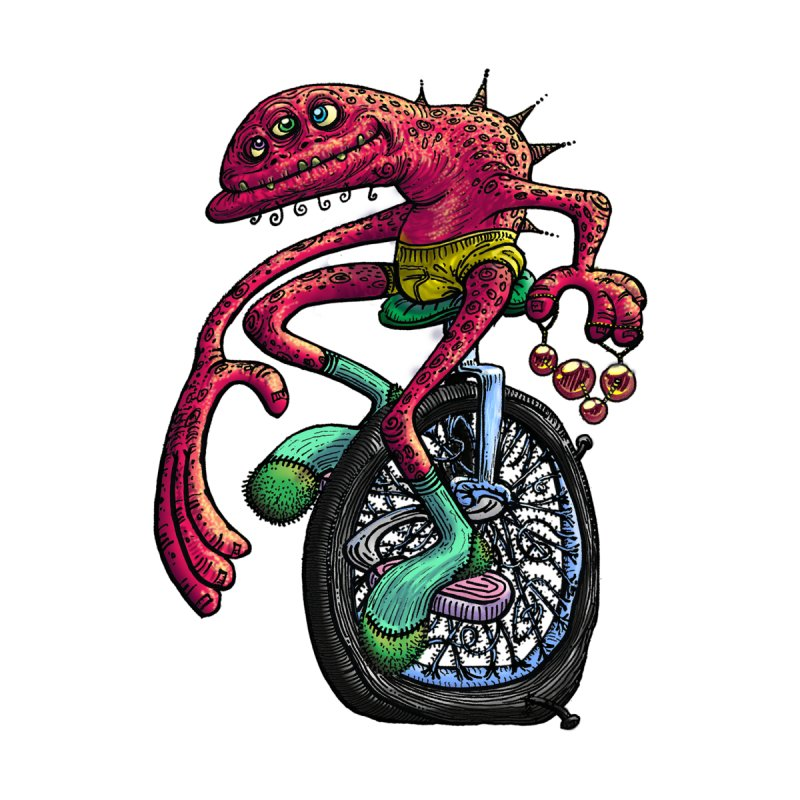 Marx Myth - Unicyclist Accessories Beach Towel by The Modern Goldfish Shop