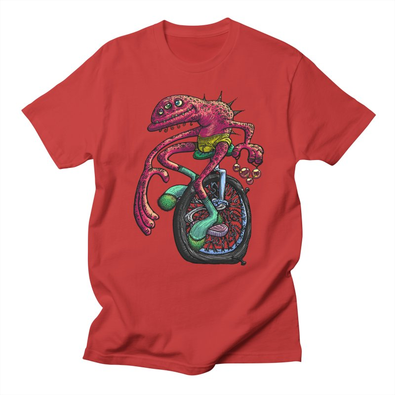 Marx Myth - Unicyclist Men's Regular T-Shirt by The Modern Goldfish Shop
