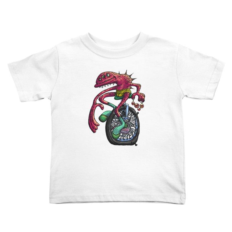 Marx Myth - Unicyclist Kids Toddler T-Shirt by The Modern Goldfish Shop