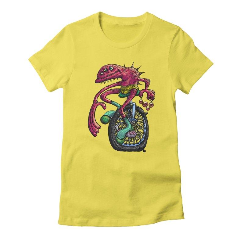 Marx Myth - Unicyclist Women's T-Shirt by The Modern Goldfish Shop