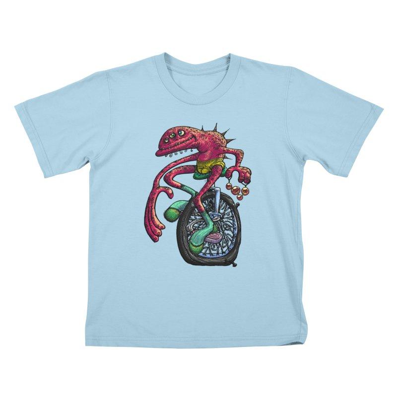 Marx Myth - Unicyclist Kids T-Shirt by The Modern Goldfish Shop