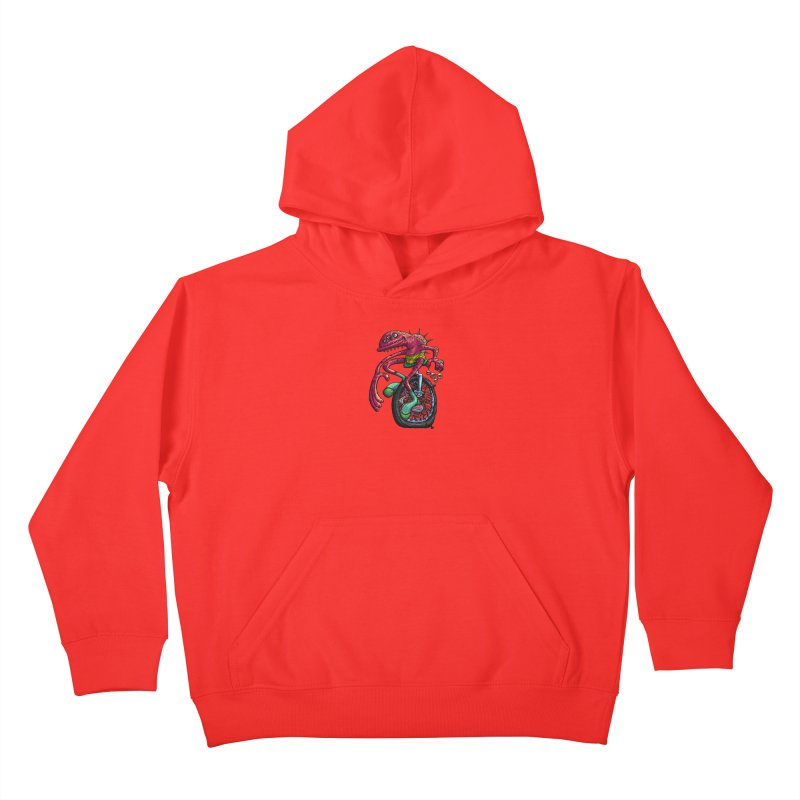 Marx Myth - Unicyclist Kids Pullover Hoody by The Modern Goldfish Shop