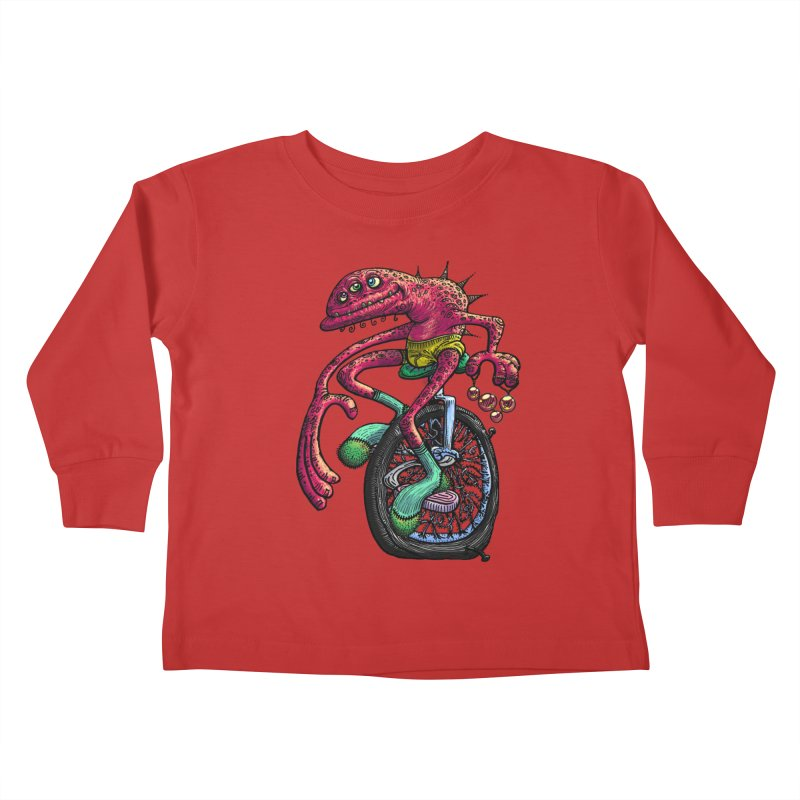 Marx Myth - Unicyclist Kids Toddler Longsleeve T-Shirt by The Modern Goldfish Shop