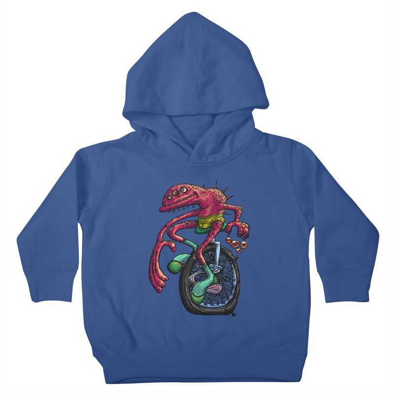 Marx Myth - Unicyclist Kids Toddler Pullover Hoody by The Modern Goldfish Shop