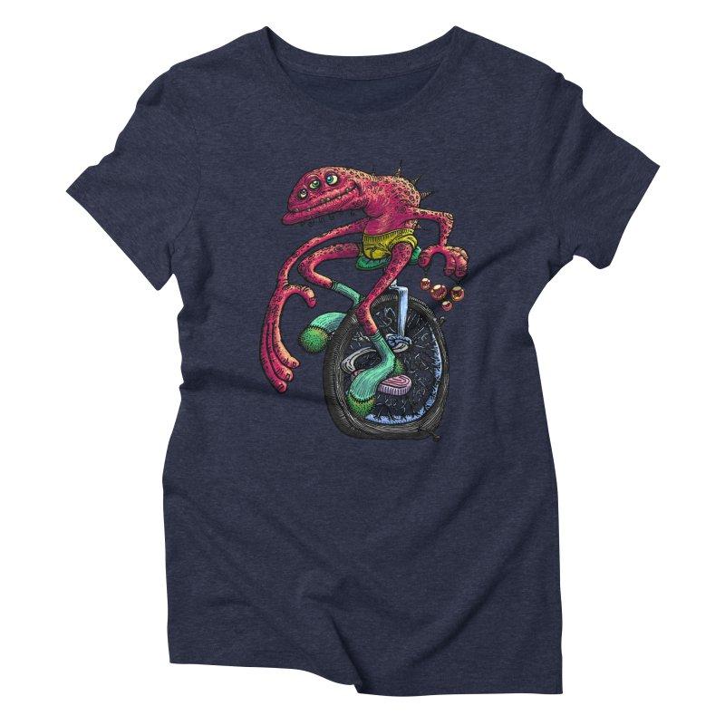 Marx Myth - Unicyclist Women's Triblend T-Shirt by The Modern Goldfish Shop