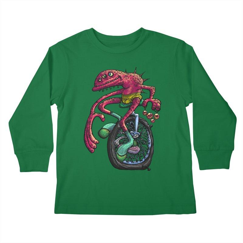 Marx Myth - Unicyclist Kids Longsleeve T-Shirt by The Modern Goldfish Shop