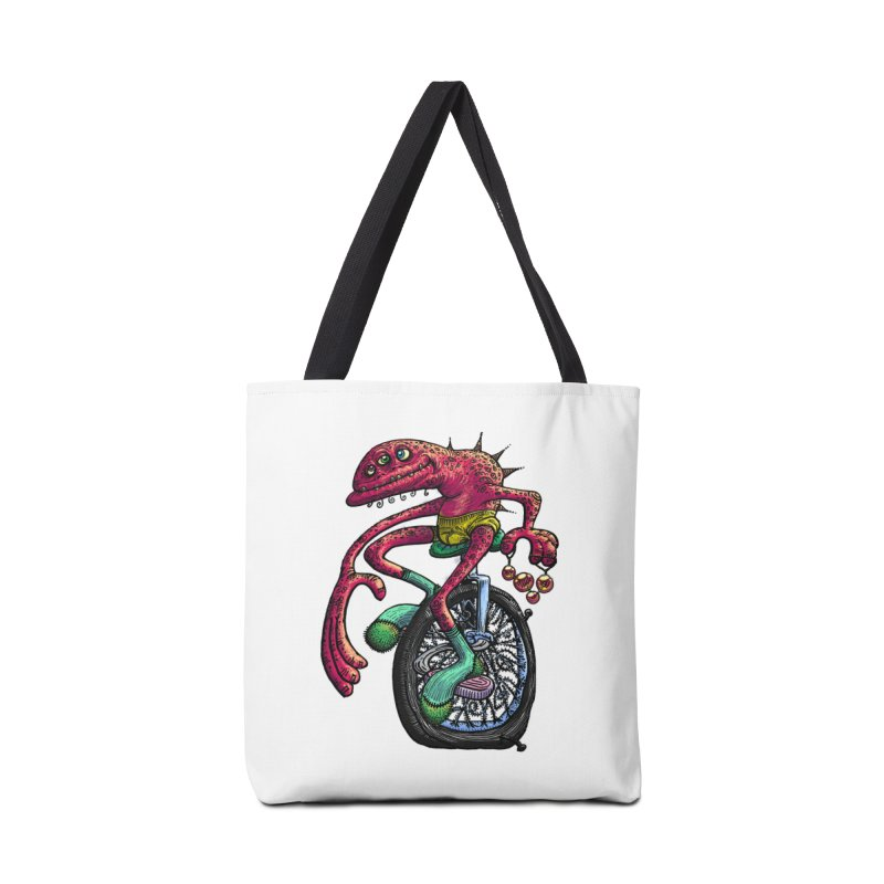 Marx Myth - Unicyclist Accessories Tote Bag Bag by The Modern Goldfish Shop