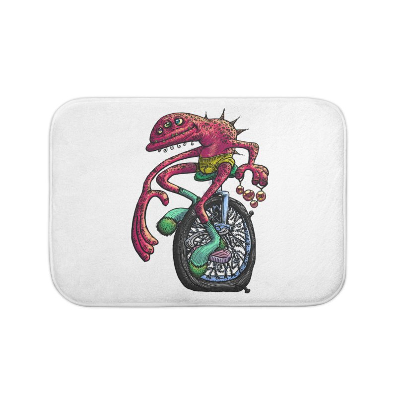 Marx Myth - Unicyclist Home Bath Mat by The Modern Goldfish Shop