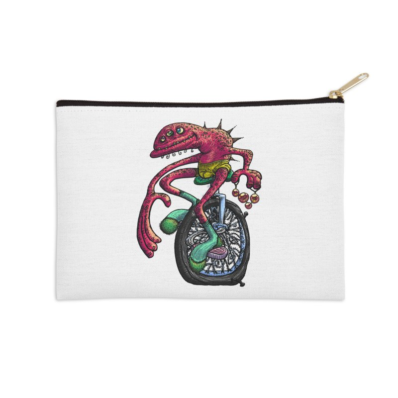 Marx Myth - Unicyclist Accessories Zip Pouch by The Modern Goldfish Shop