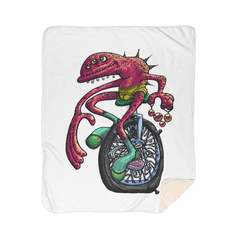 Marx Myth - Unicyclist Home Sherpa Blanket Blanket by The Modern Goldfish Shop