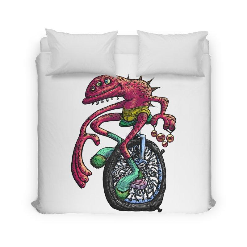 Marx Myth - Unicyclist Home Duvet by The Modern Goldfish Shop