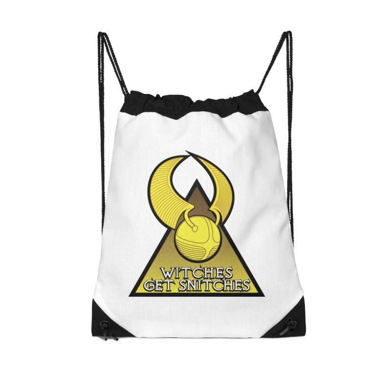 Witches Get Snitches Accessories Drawstring Bag Bag by The Modern Goldfish Shop