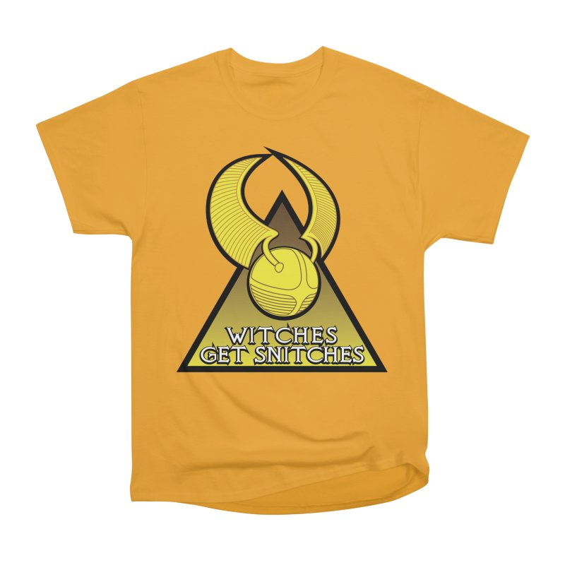 Witches Get Snitches Men's Heavyweight T-Shirt by The Modern Goldfish Shop