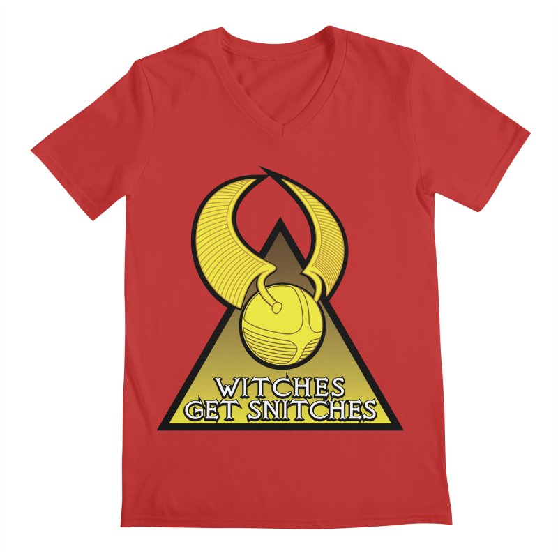 Witches Get Snitches Men's V-Neck by The Modern Goldfish Shop