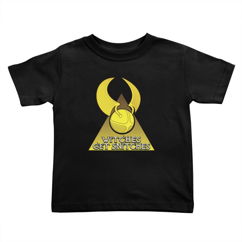 Witches Get Snitches Kids Toddler T-Shirt by The Modern Goldfish Shop