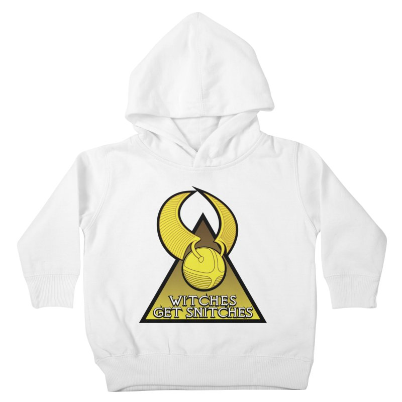 Witches Get Snitches Kids Toddler Pullover Hoody by The Modern Goldfish Shop
