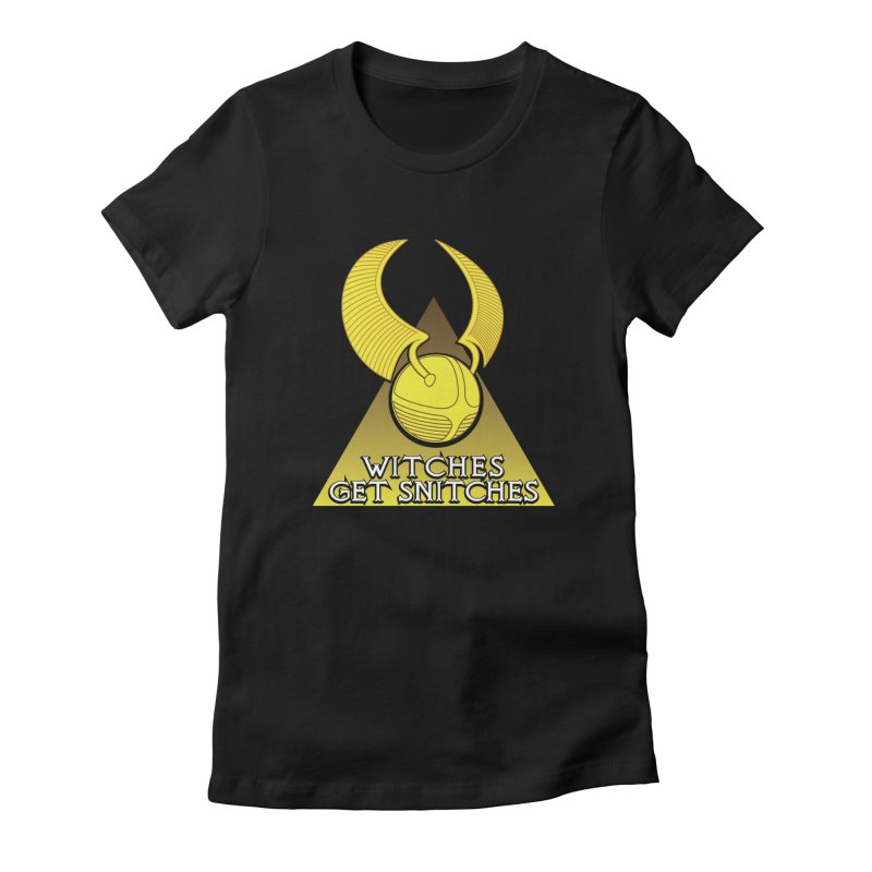 Witches Get Snitches Women's Fitted T-Shirt by The Modern Goldfish Shop