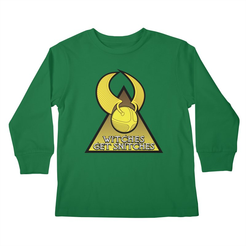 Witches Get Snitches Kids Longsleeve T-Shirt by The Modern Goldfish Shop
