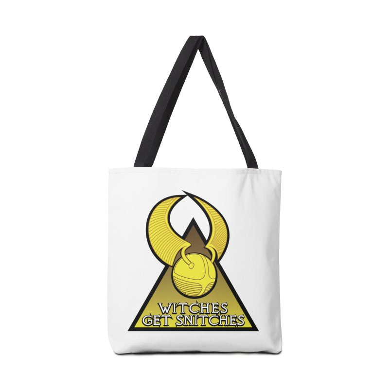 Witches Get Snitches Accessories Tote Bag Bag by The Modern Goldfish Shop