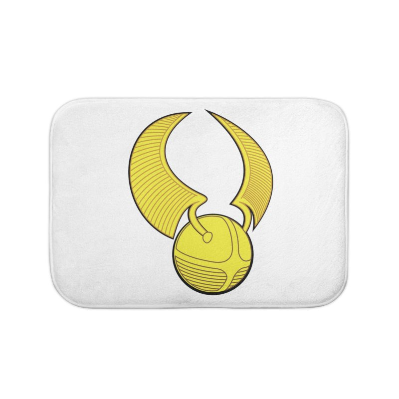 Golden Snitch Home Bath Mat by The Modern Goldfish Shop