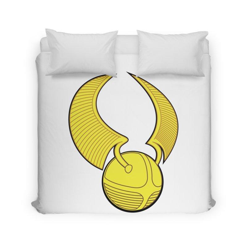 Golden Snitch Home Duvet by The Modern Goldfish Shop
