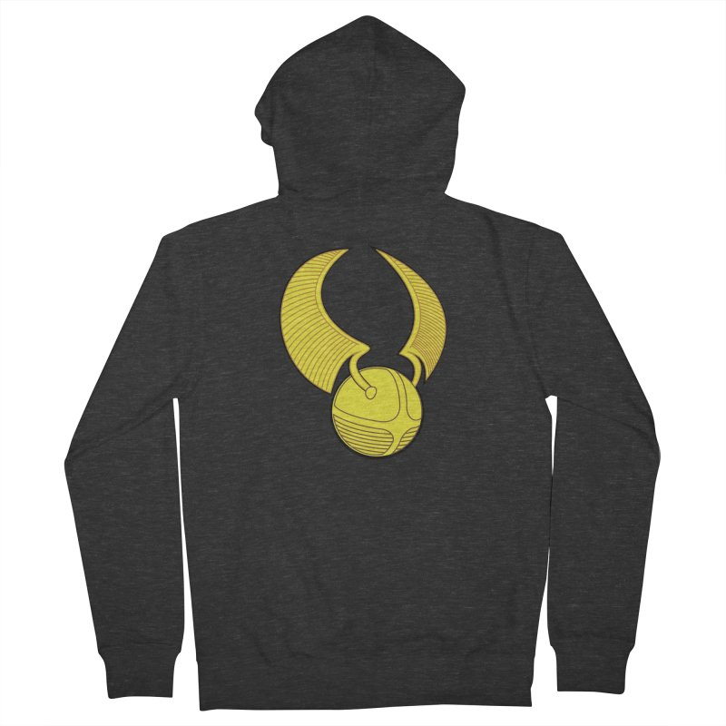 Golden Snitch Men's French Terry Zip-Up Hoody by The Modern Goldfish Shop