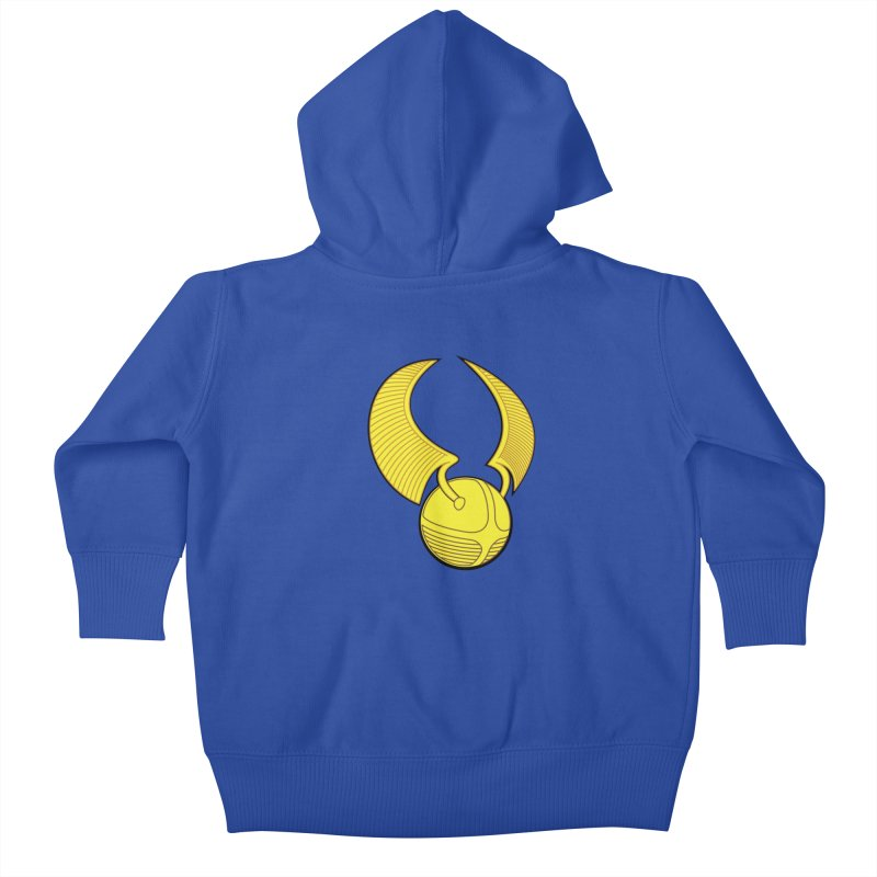 Golden Snitch Kids Baby Zip-Up Hoody by The Modern Goldfish Shop