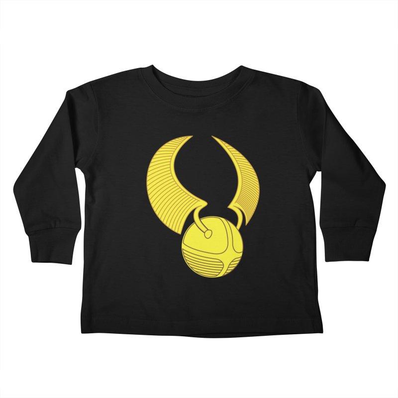 Golden Snitch Kids Toddler Longsleeve T-Shirt by The Modern Goldfish Shop