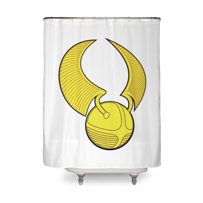 Golden Snitch Home Shower Curtain by The Modern Goldfish Shop