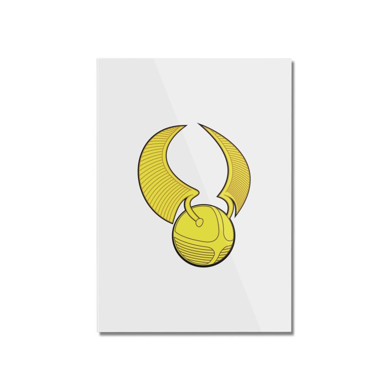 Golden Snitch Home Mounted Acrylic Print by The Modern Goldfish Shop
