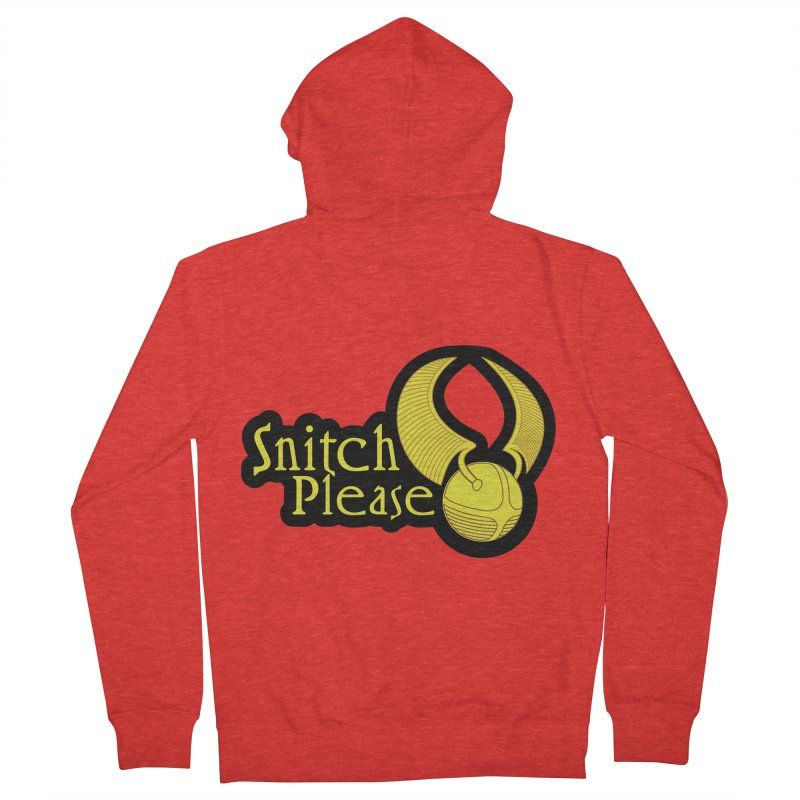 Snitch Please Men's Zip-Up Hoody by The Modern Goldfish Shop