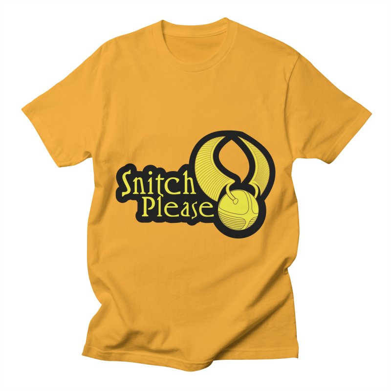 Snitch Please Men's Regular T-Shirt by The Modern Goldfish Shop