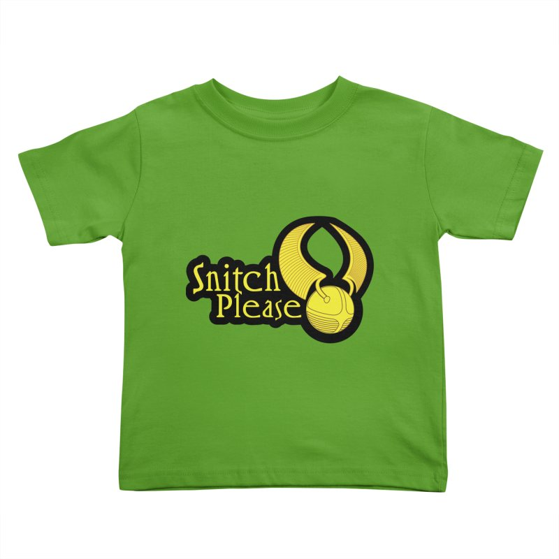 Snitch Please Kids Toddler T-Shirt by The Modern Goldfish Shop