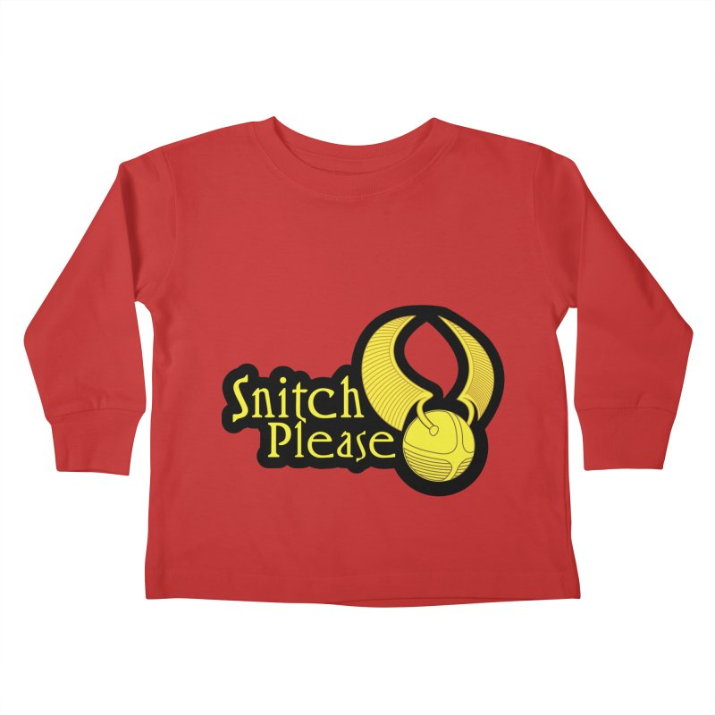 Snitch Please Kids Toddler Longsleeve T-Shirt by The Modern Goldfish Shop