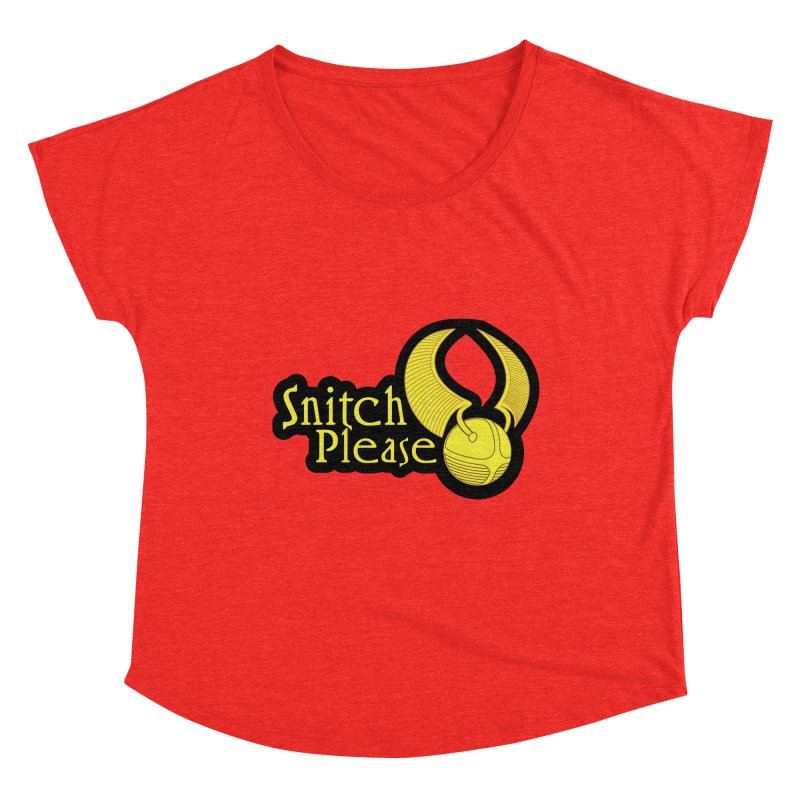Snitch Please Women's Scoop Neck by The Modern Goldfish Shop