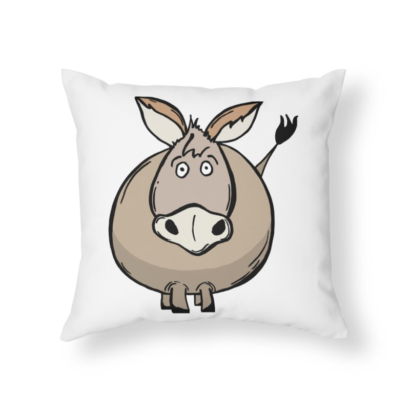 Sweet Donkey Home Throw Pillow by The Modern Goldfish Shop
