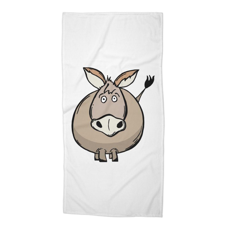 Sweet Donkey Accessories Beach Towel by The Modern Goldfish Shop