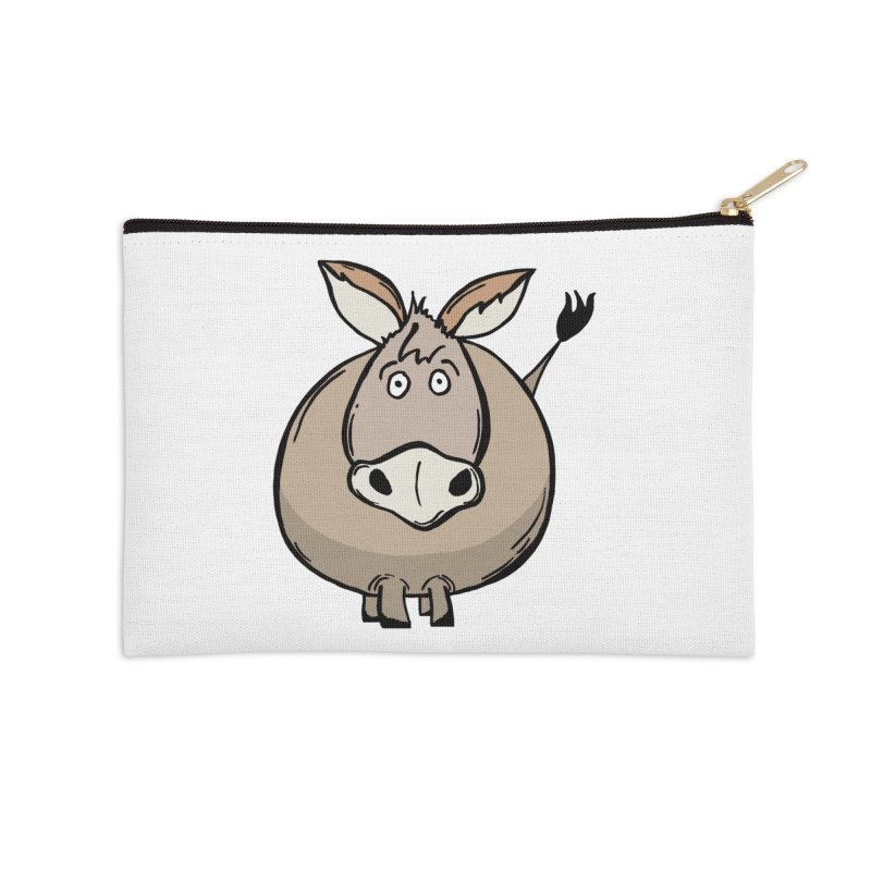 Sweet Donkey Accessories Zip Pouch by The Modern Goldfish Shop
