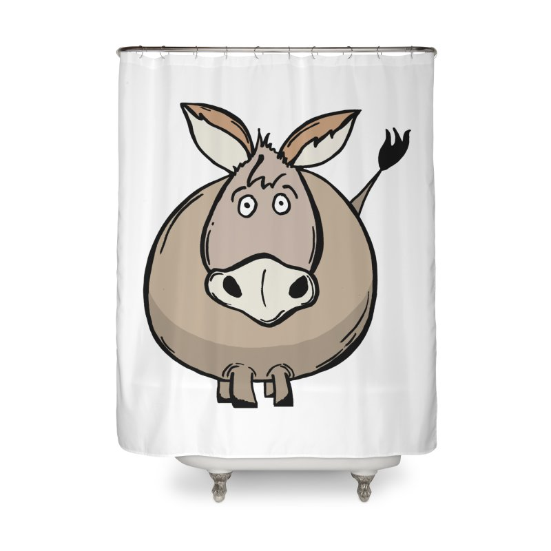 Sweet Donkey Home Shower Curtain by The Modern Goldfish Shop