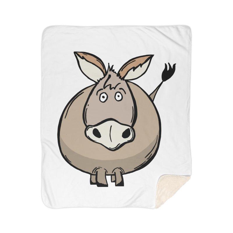 Sweet Donkey Home Sherpa Blanket Blanket by The Modern Goldfish Shop