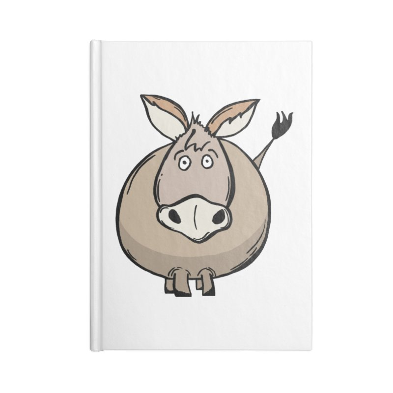 Sweet Donkey Accessories Blank Journal Notebook by The Modern Goldfish Shop
